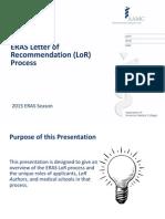 ERAS LOR Recommendation Process