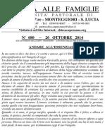 Lettera alle Famiglie - 26 ottobre 2014