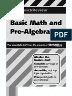 Basic Math and Pre-Algebra - Cliffs Quick Review - J. Bobrow (2001) WW.pdf