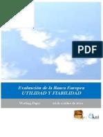 Evaluación de la Banca Europea. UTILIDAD Y FIABILIDAD