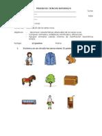 PRUEBA DE CIENCIAS NATURALES (Unidad 1 Mag.).doc