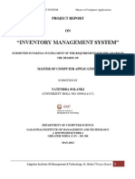 96695166 Inventory Management System Project Report