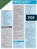 2014 CFA Level 2 Quicksheet