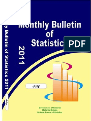 MONTHLY BULLETIN OF STATISTIC Pakistan | Consumer Price