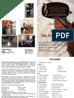 Programa Recital