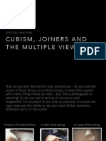 cubism joiners and the multiple viewpoint
