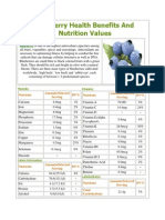 Blueberry Health Benefits and Nutrition Values