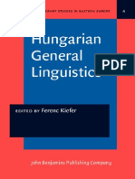 [Ferenc Kiefer] Hungarian Linguistics