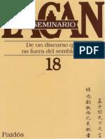 Lacan, Jacques - Seminario XVIII - Ed. Paidós.pdf