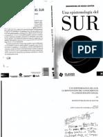 De Sousa Santos Boaventura Una epistemologia del SUR libre.pdf