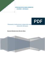 Planeación institucional y desarrollo sostenible en la educación (El ensayo).pdf