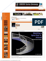 Modelling Spiral Stair 1 (Autocad Modelling)