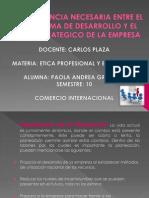 CONGRUENCIA NECESARIA ENTRE EL PROGRAMA DE DESARROLLO Y.pptx