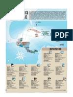 Centroamerica y las Antillas - Mapa Politico