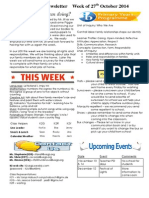 newsletter week of 271014