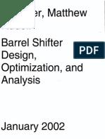 Barrel Shifter Design Optimization and Analysis