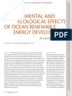 Environmental and Ecological Effects of Ocean Renewable Energy
