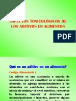 Aspectos toxicologicos de aditivos en alimentos.ppt