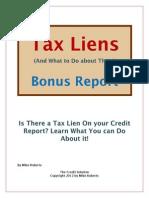 Dealing With a Tax Lien