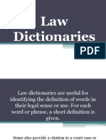 Law Dictionaries