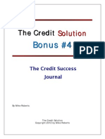 Credit Success Journal