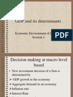 GDP, Saving and Consumption