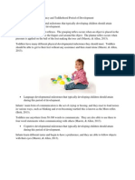 infancy and toddlerhood period of development
