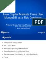 using mongodb as a tick database 2013
