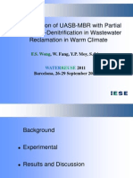 The Application of UASB-MBR With Partial Nitrification-Denitrification in Wastewater Reclamation in Warm Climate