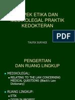 Aspek Medikolegal Praktek Kedokteran