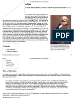 Marx's Theory of Alienation - Wikipedia, The Free Encyclopedia