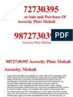 9872730395 Gmada aerocity Plots for sale Mohali