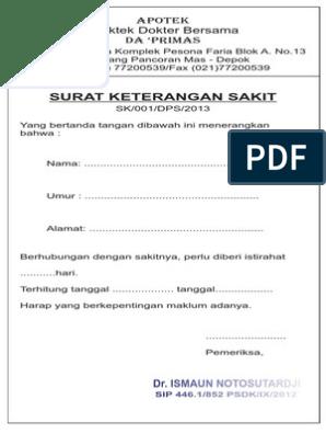 Surat Dokter