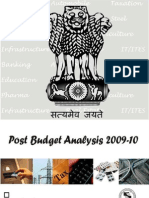 Post Budget 2009 10 Analysis