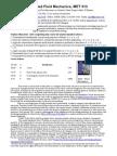 Applied Fluid Mechanics Syl