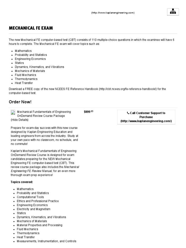 fundamentals of engineering exam