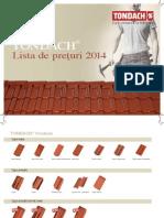 Tondach Lista Preturi 2014