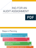 Audit Assignment Planning Performance Audit