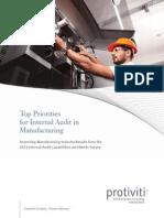 2012 Internal Audit Survey Manufacturing Industry Protiviti