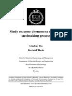 Study of Slag in Steelmaking Process
