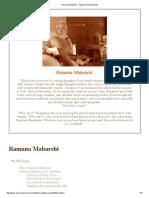 Ramana Maharshi - Sage of Arunachala Hill