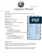 sharing the planet parent letter