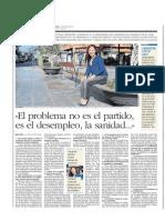 Entrevista en Canarias 7 a Patricia Hernández (25/10/2014)