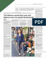 Entrevista a Patricia Hernández en La Provincia (25/10/2014)