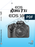 Canon 500D Rebelt1i Manual