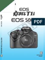 Canon 500D Rebelt1i Manual