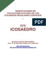 POLIEDROS EN PROYECCIÓN ACOTADA . (5/5) ICOSAEDRO