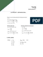 Mathcad - 1st Problem - Retaining Wall-LOANA