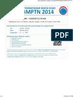 Slip Pembayaran SBMPTN 2014