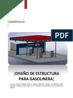 Diseño de estructura para gasolinera